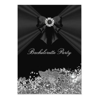 Diamond Bow & Lace Bachelorette Party Invite