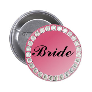 Diamond Bride 6 Cm Round Badge