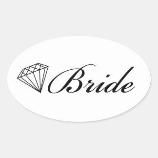 Diamond Bride Sticker On White Stickers