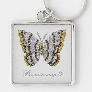 Diamond Butterfly Print Key Chains