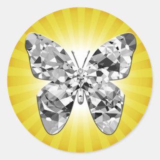 Diamond Butterfly Sunny Sticker