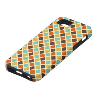 Diamond Checkered Blue Yellow Red Retro Colors iPhone 5 Cover