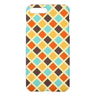 Diamond Checkered Blue Yellow Red Retro Colors iPhone 7 Plus Case