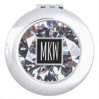 Diamond Class Monogram Travel Mirrors