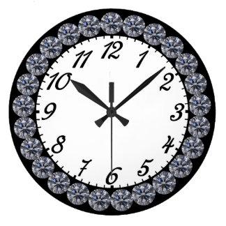 Diamond Clock with Numbers