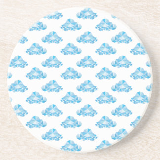 Diamond Clouds in the Sky Pattern Drink Coaster