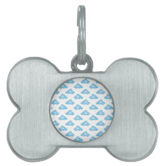 Diamond Clouds in the Sky Pattern Pet Tag