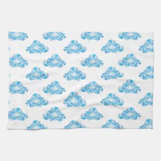Diamond Clouds in the Sky Pattern Tea Towel