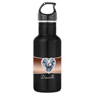 Diamond - Copper Personalized 532 Ml Water Bottle