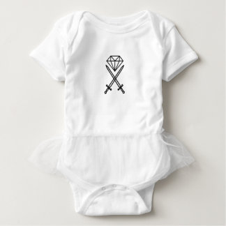 Diamond cut baby bodysuit