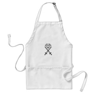 Diamond cut standard apron