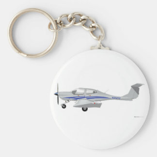 Diamond DA-40 Basic Round Button Key Ring