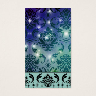 Diamond Damask, FAIRY LIGHTS in Blue and Teal