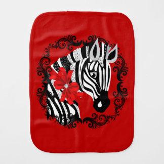 Diamond Delilah Zebra (Red) Burp Cloth