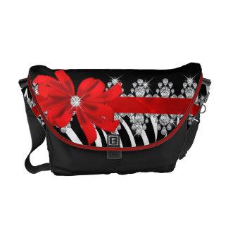 Diamond Delilah Zebra (Red) Diaper Bag Commuter Bag