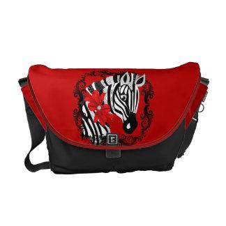 Diamond Delilah Zebra (Red) Diaper Bag Messenger Bag