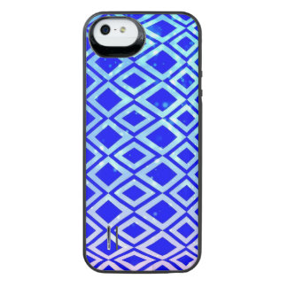 Diamond Design (Blue) iPhone SE/5/5s Battery Case