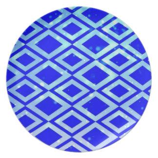 Diamond Design Melamine Plate