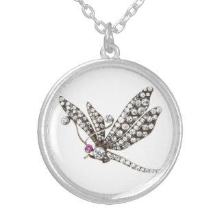 Diamond Dragonfly Vintage Costume Jewelry Charm