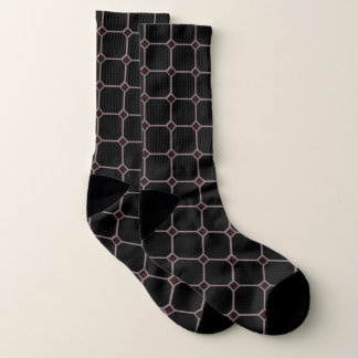 Diamond Edge Box Maroon Black Printed Socks