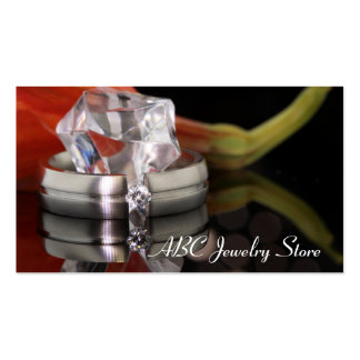 Diamond engagement ring for jewelry store business pack of standard business cards