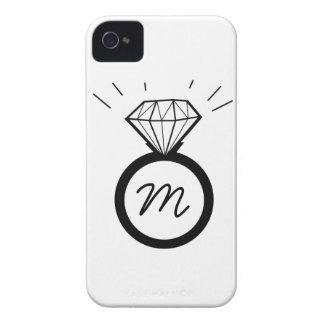 Diamond Engagement Ring monogram iphone case