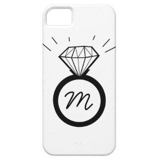Diamond Engagement Ring monogram iphone case iPhone 5 Cover