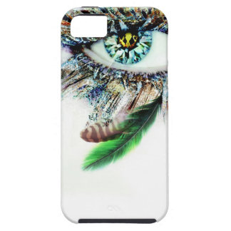 Diamond Eye with Feathers iPhone 5 Cover