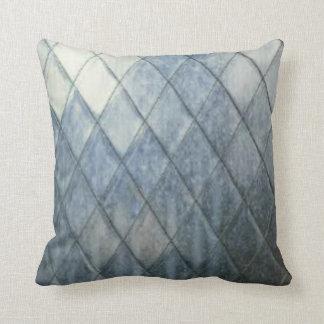 Diamond Faded Denim Design Pillow