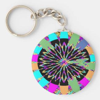 Diamond Flower Design 5 Keychains