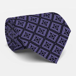 Diamond Geometric Black & Violet Tie