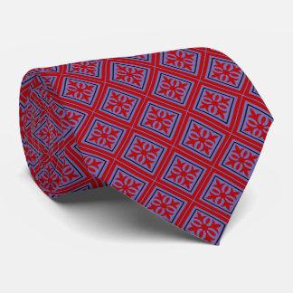 Diamond Geometric Red & Violet Tie
