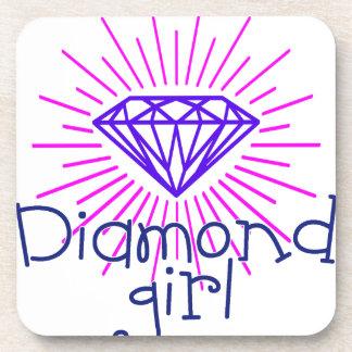 diamond girl, gem shining coaster
