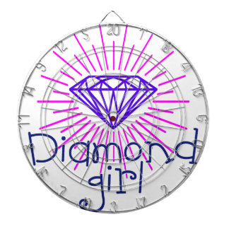 diamond girl, gem shining dartboard