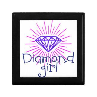 diamond girl, gem shining gift box