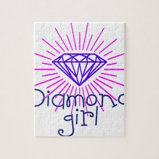 diamond girl, gem shining jigsaw puzzle