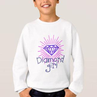 diamond girl, gem shining sweatshirt