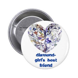 diamond-girl s best friend button