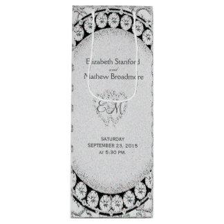 Diamond Glitter | Wedding Wine Bag Wine Gift Bag