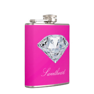 Diamond Glitz (Pink) Hip Flask