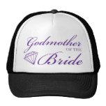 Diamond Godmother of Bride Purple Cap