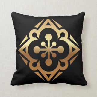 Diamond Gold Star Polyester Throw Pillow