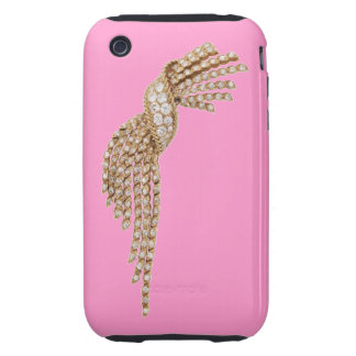Diamond Gold Tassel Blackberry Curve Case Pink iPhone 3 Tough Cover