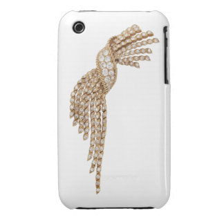 Diamond Gold Tassel Blackberry Curve Case White iPhone 3 Cases