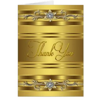 Diamond Gold Thank You Cards