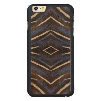Diamond guinea fowl feather design carved® maple iPhone 6 plus case
