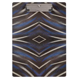 Diamond guinea fowl feather design clipboard