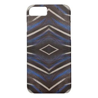 Diamond guinea fowl feather design iPhone 7 case