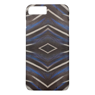 Diamond guinea fowl feather design iPhone 7 plus case