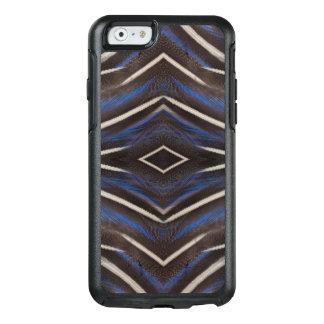 Diamond guinea fowl feather design OtterBox iPhone 6/6s case